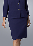 Tahari Navy Skirt Suit
